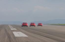Kia Stinger at Newquay Airport, rear