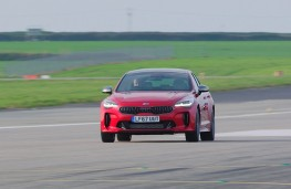 Kia Stinger at Newquay Airport, solo