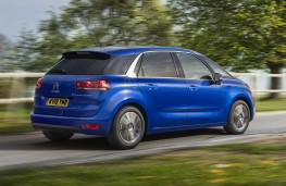 Citroen C4 Space Tourer, 2018, side, action