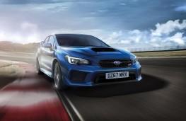 Subaru WRX STI Final Edition head on action