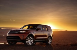 Land Rover Discovery, 2017, side, sun