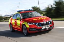 Skoda Superb, 2020, fire and rescue livery