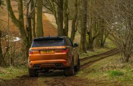 Range Rover Sport SVR, 2018, off road, rear