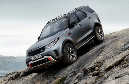 Land Rover Discovery SVX, 2017, front, rock slope