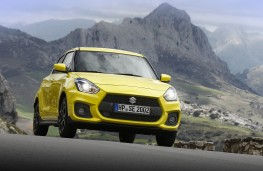 Suzuki Swift Sport, 2018, front, action, mountain