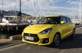 Suzuki Swift Sport, 2018, front, action, harbour