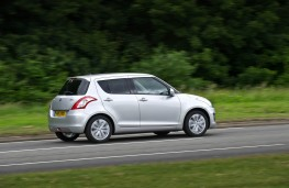 Suzuki Swift 2013, rear, action