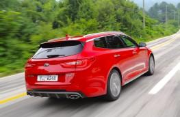 Kia Optima Sportswagon, rear, action