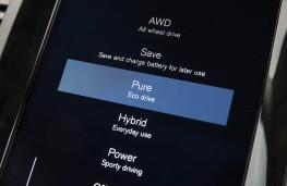 Volvo XC90 T8 Twin Engine, drive mode display