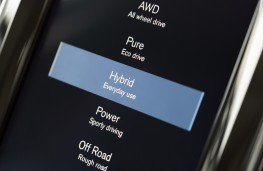 Volvo XC60 T8, drive mode display