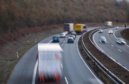 Tailgating on motorway