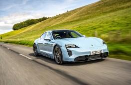 Porsche Taycan, 2020, front, action