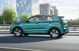 Volkswagen T-Cross, 2019, side, action