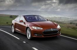 Tesla Model S P85D, front, action
