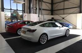 Tesla Model 3, 2019, rear, static
