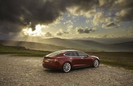 Tesla Model S P85D, rear, static