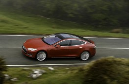 Tesla Model S P85D, side, action