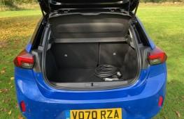 Vauxhall Corsa-e, boot