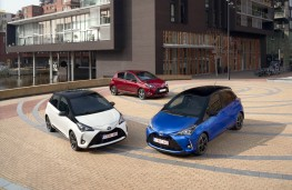 Toyota Yaris, three cars