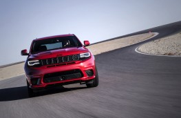 Jeep Grand Cheorkee Trackhawk, 2018, front, action, track