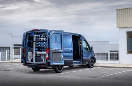 Ford Transit Trail, 2020, rear, doors open