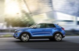Volkswagen T-Roc, 2017, side, action