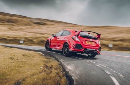 Honda Civic Type R GT, rear, action