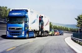 Truck platoon trial