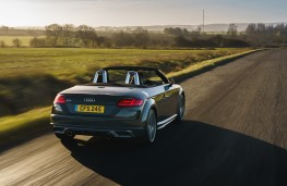 Audi TT Roadster, 2019, rear, action