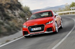 Audi TT RS, 2016, coupe, front, action