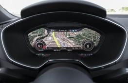 Audi TT RS, virtual instrument panel, map