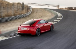 Audi TT RS, 2016, coupe, rear, track, action