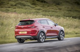 Hyundai Tucson 2015, rear, action