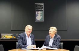 TVR chairman Les Edgar and designer Gordon Murray