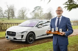 Rawdon Glover, Jaguar Land Rover managing director, with Jaguar I-PACE