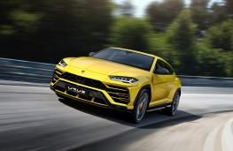 Lamborghini Urus, 2018, front, action