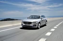 Volvo V90, 2016, front, action