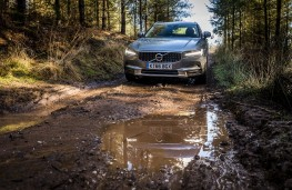 Volvo V90 Cross Country, 2017, off road, front, track