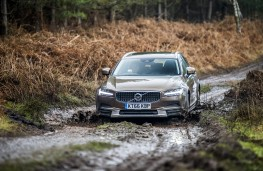 Volvo V90 Cross Country, 2017, off road, mud