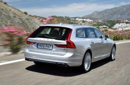 Volvo V90, 2016, rear, action