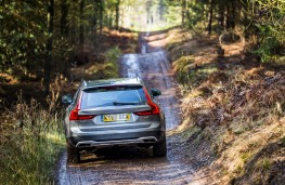Volvo V90 Cross Country, 2017, off road, rear, track