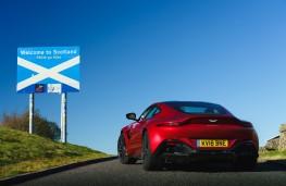 Aston Martin Vantage on the Scottish border
