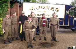 Dad's Army Museum staff with Ford BB van