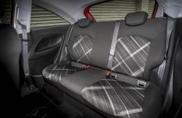 Vauxhall Corsa, rear seats