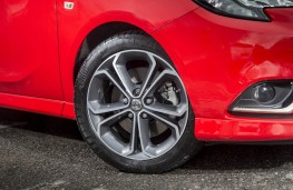 Vauxhall Corsa Red, alloy wheel
