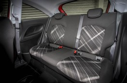 Vauxhall Corsa Red, rear seats