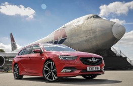 Vauxhall Insignia ST, with aircraft