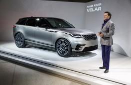 Range Rover Velar reveal, 2017, designer Gerry McGovern