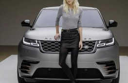 Range Rover Velar reveal, 2017, actress Poppy Delevingne