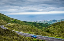 Mazda2, Epic Drive Azores, 2017, view, coast road